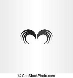 jelkép, vektor, kasfogó, ikon, elem