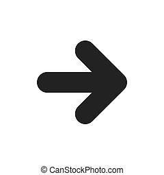 jelkép, vektor, nyílvesszö icon