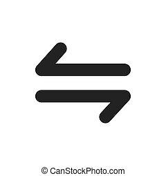 jelkép, vektor, tervezés, nyílvesszö icon