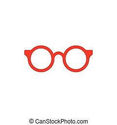 jelkép, vektor, tervezés, szemüveg, ikon