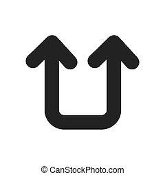 jelkép, vektor, visszatérés, nyílvesszö icon