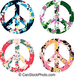 jelkép, virág, béke cégtábla