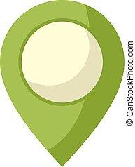 jelkép, zöld, elhelyezés