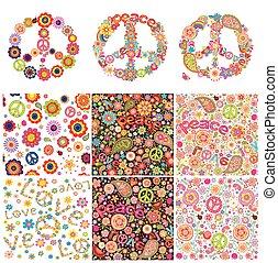 jelképes, tervezés, hippi