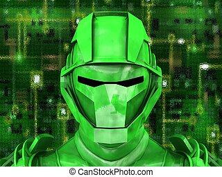 jellemző, robot emberi külsővel, belső, technológia