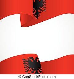 jelvény, fehér, albánia