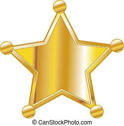jelvény, művészet, seriff, csíptet