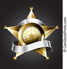 jelvény, tervezés, seriff