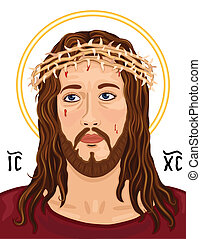 jesus christ, christogram, portré