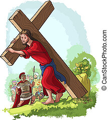 jesus christ, szállítás, kereszt