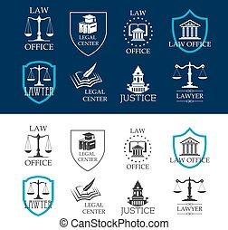 jogi, hivatal icons, középcsatár, törvény, igazságosság