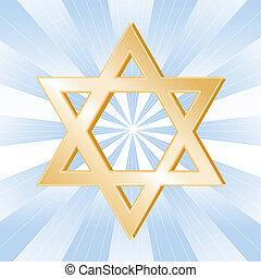 judaizmus, jelkép, csillag, dávid