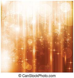 kártya, állati tüdő, csillaggal díszít, szikrázó, karácsony