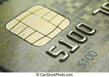 kártya, új, kulcs, makro, alacsony, lövés, hitel