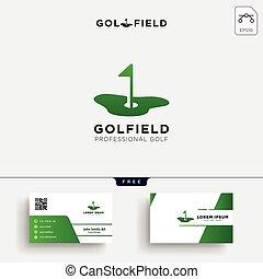 kártya, ügy, sablon, vagy, jel, tervezés, golf, térkép, elhelyezés