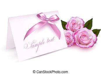 kártya, agancsrózsák, köszönés, szépség