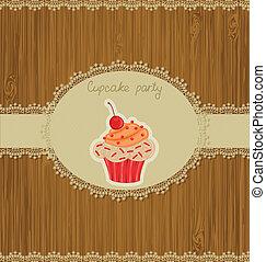 kártya, cupcake