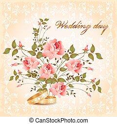 kártya, esküvő
