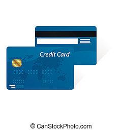 kártya, hitel, vektor