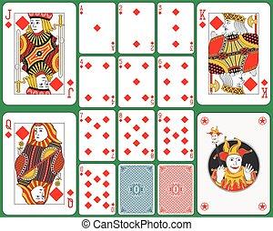 kártya, káró, játék, illeszt