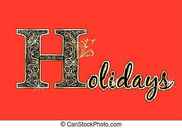 kártya, köszönés, ünnepek, felirat, arany, szöveg