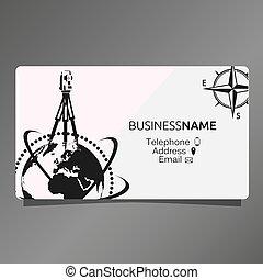 kártya, kartográfia, geodesy, ügy