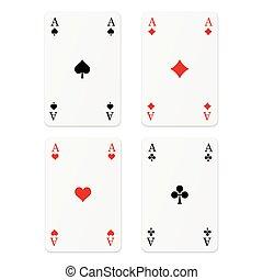 kártya, kitűnőség, -, játék, 4