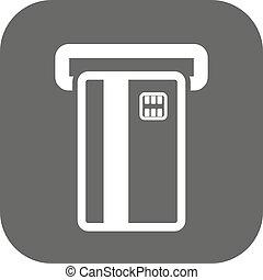 kártya, pénzel, icon., jelkép., atm, fizetés, ecommerce, creditcard, bankügylet, rés, lakás