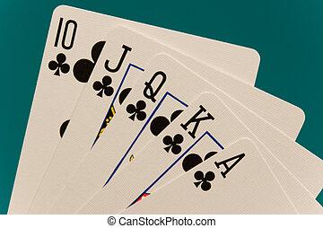 kártya, piszkavas, 09, királyi pirul