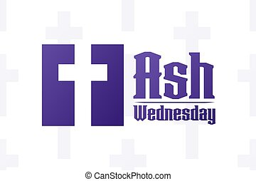 kártya, sablon, concept., transzparens, ünnep, háttér, hamu, vektor, szöveg, eps10, wednesday., illustration., inscription., poszter