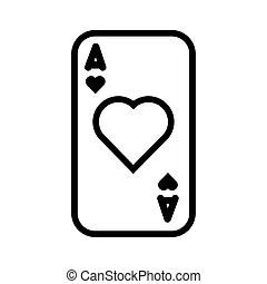 kártya, szív, kaszinó, piszkavas