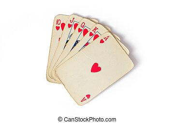 kártya, szüret, piszkavas