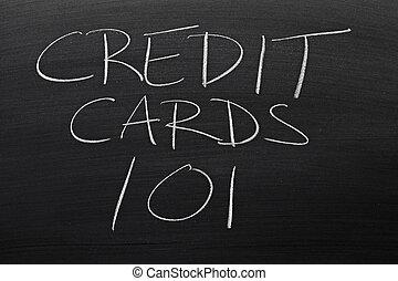 kártya, tábla, 101, hitel