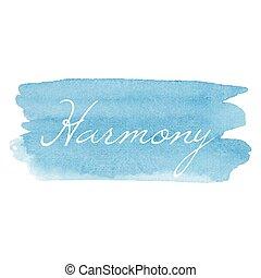 kártya, vektor, ír szöveg, vízfestmény, ikon, kéz, húzott, kézírás, összhang, háttér, ábra, nyomdászat, kék