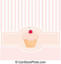 kártya, vektor, rózsaszínű, édesség