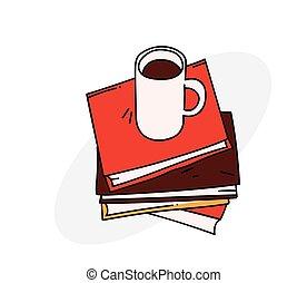 kávécserje, előjegyez, csésze