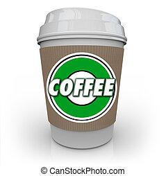 kávécserje, feketekávé, csésze, ital, koffein, reggel, műanyag