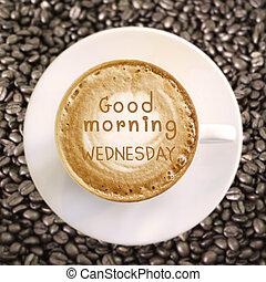 kávécserje, jó, szerda, reggel, csípős, háttér