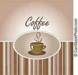 kávécserje, kártya, köszönés