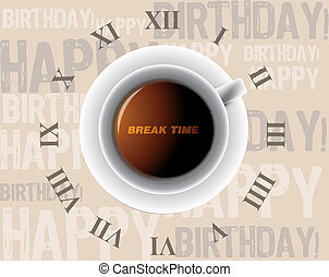 kávécserje, reggel, csésze