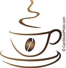 kávéscsésze, jelképes