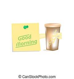 kávéscsésze, reggel