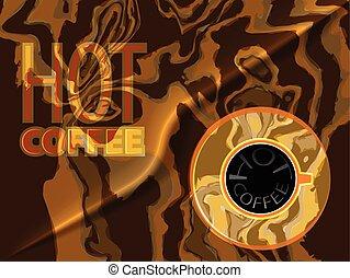kávéscsésze, tető, csípős, szavak, kilátás