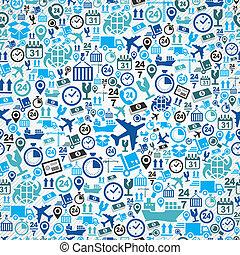 kék, állhatatos, motívum, seamless, hajózás, háttér., munkaszervezési, ikon