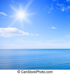 kék ég, óceán
