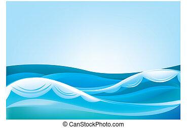 kék ég, óceán lenget