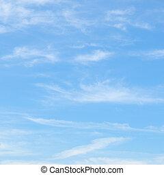 kék ég, bolyhos, elhomályosul
