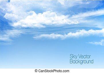 kék ég, clouds., vektor, háttér, áttetsző