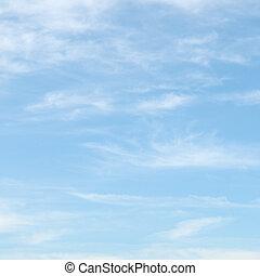 kék ég, elhomályosul, fény