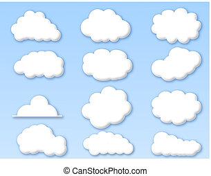 kék ég, elhomályosul, felhős